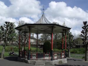 The bandstand in Borough Gardens, Dorchester