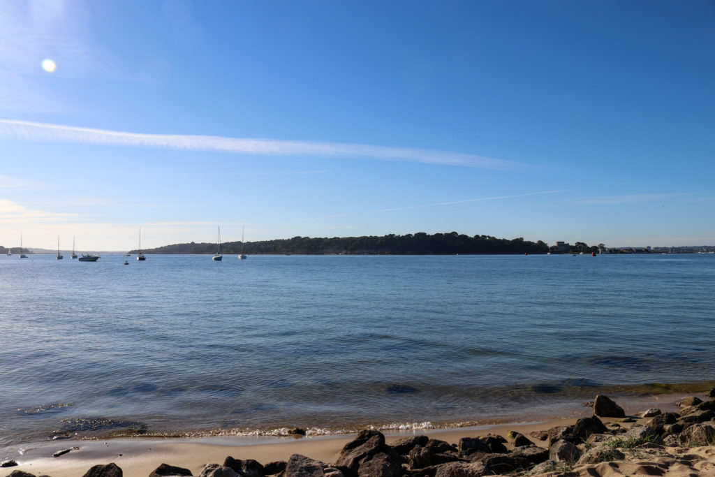 Brownsea island from Shell Bay