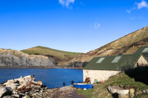 Old lifeboat house at Chapman's Pool