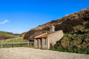 Old coastguard hut at Chapman's Pool
