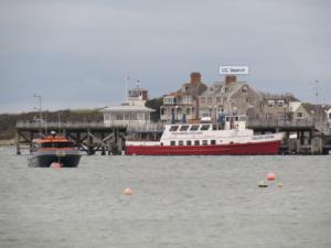 City Cruises Poole ship docked at Swanage Pier
