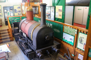 Secundus engine house in the Goods Shed of the Swanage Railway Museum