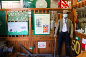 Mannequin with period uniform at Swanage Railway museum