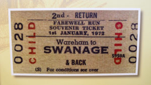Old Wareham to Swanage 1972 ticket