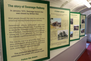 Swanage Railway museum information boards