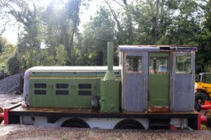 Old engine at Corfe Castle Station