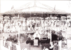 Archive image of the Swanage Bandstand and carnival queen