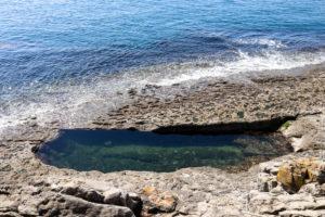 The tidal pool at Dancing Ledge