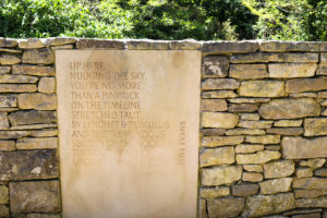 Jane Evans poem on a wall at Durlston Country Park