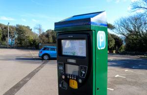 Ticket machine at Durlston car park