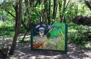 Children's play area in the woods at Durlston Country Park