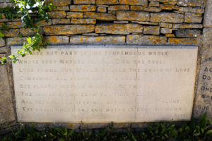 Alexander Pope poem inscribed on wall at Durlston Country Park
