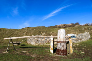 Purbeck stone quarr at Durlston Country Park, Swanage