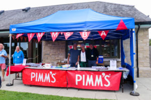 Pimms tent at the Harman's X show