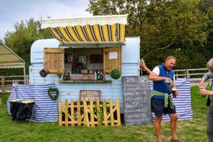 Harman's Cross bar van at the bank holiday Field Day