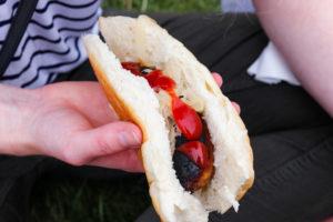Ketchup on a hot dog at the Harman's Cross fayre