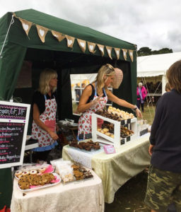Cake stall at the Harman's Cross Field Day