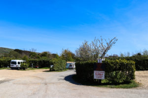 Touring pitches at Herston campsite, Swanage