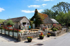 Outside view of Clavell's restaurant in Kimmeridge