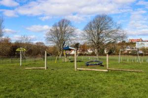 Balance beams at King George's playground, Swanage