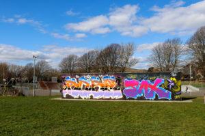 King George's playing field graffiti wall