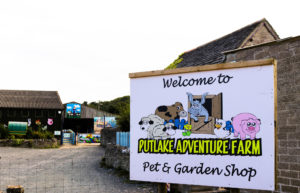 Welcome sign for Putlake Farm in Langton Matravers
