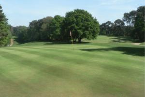 Eleventh green at Meyrick Park golf club, Bournemouth