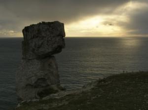 Freestone monolith on St St Aldhelm's Head