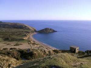 Worbarrow Tout and bay viewed from Flowers Barrow
