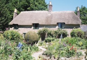 Thatched cottage at Thorncombe Woods, the birthplace of Thomas Hardy