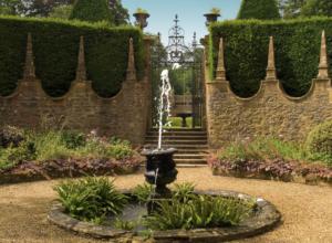 Athelhampton House courtyard fountain