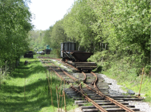 Narrow gauge railway at the Purbeck Mineral & Mining museum, Norden