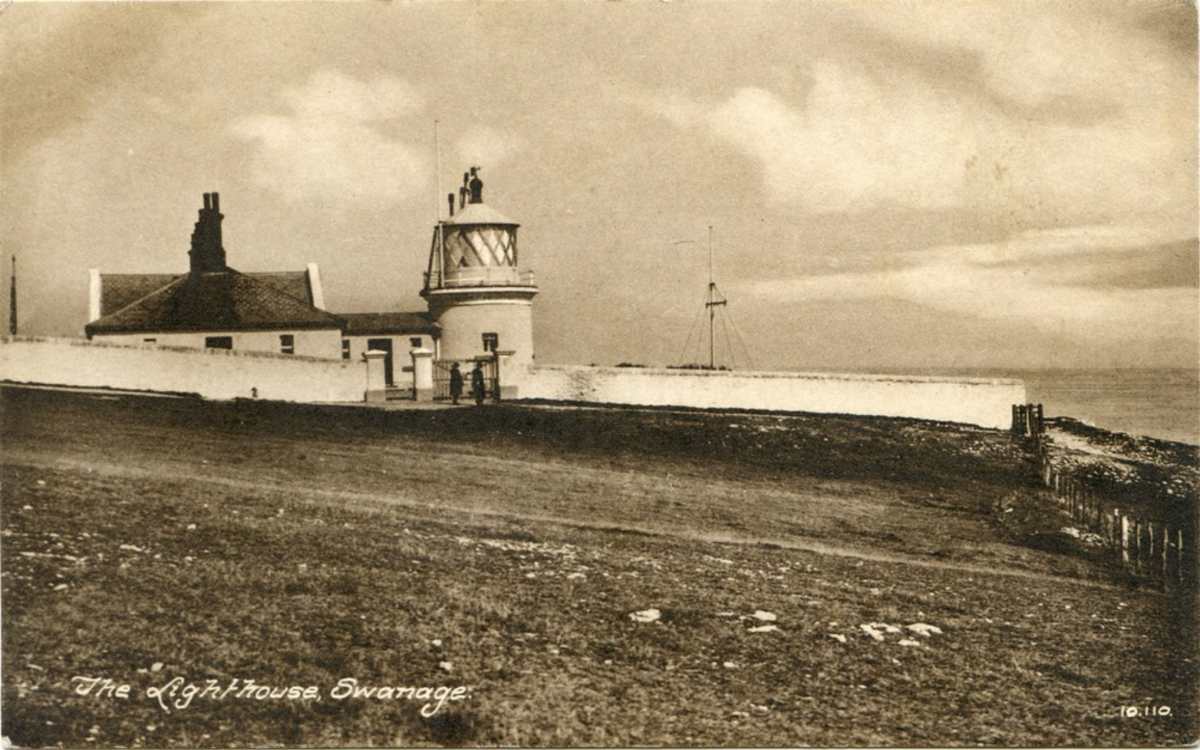Archive image of Durlston lighthouse at Anvil Point