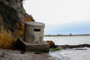 WWII pill box on South Beach in Studland