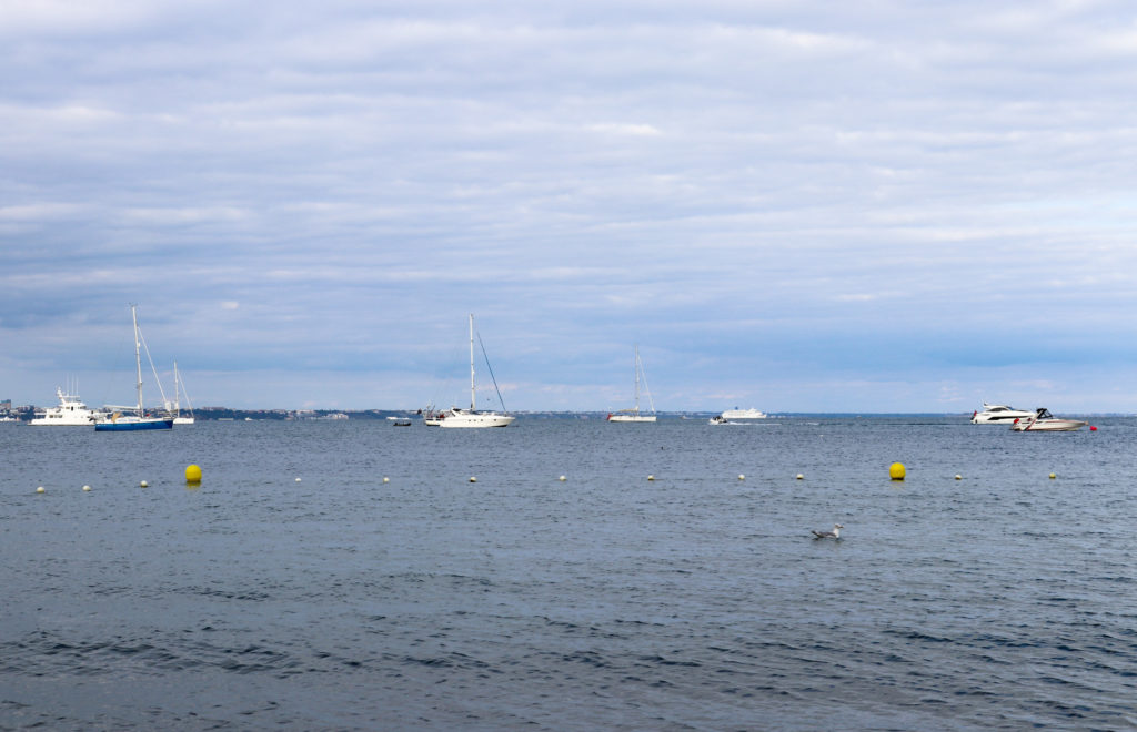 Safe swimming area of Studland's South Beach