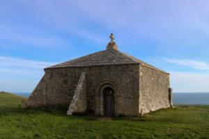 St Aldhelm's chapel at St Aldhelm's Head