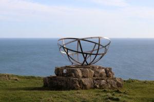 WW2 Radar monument at St Aldhelm's Head