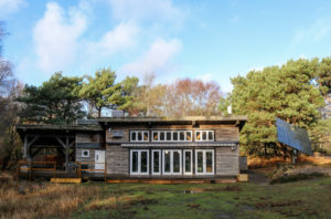 Studland's discovery centre in its woodland setting