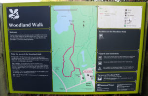 Walking route information board for Knoll Beach in Studland