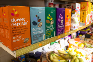 Dorset Cereals and fresh fruits at Studland Stores