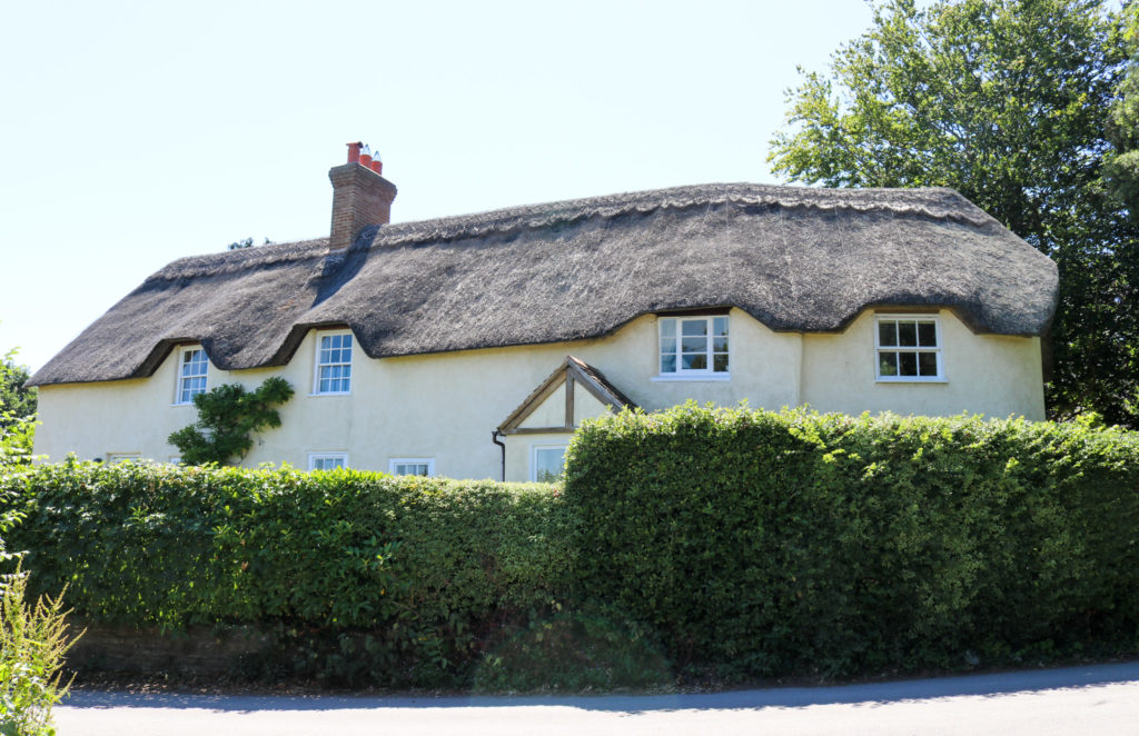 Thatched house in Studland village