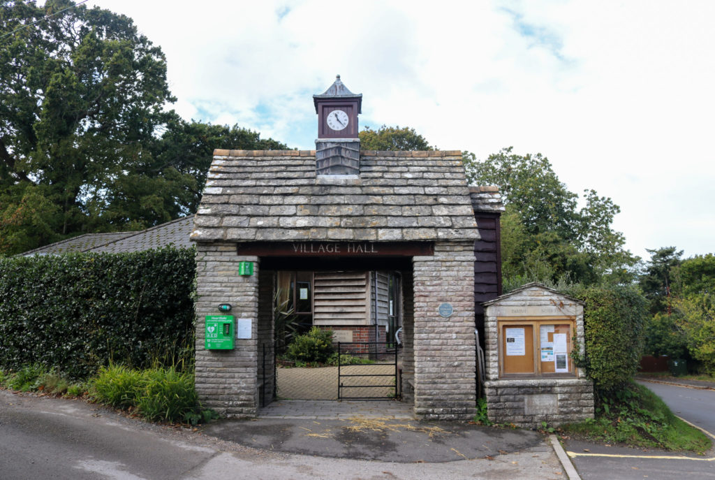 entrance to Studland village hall