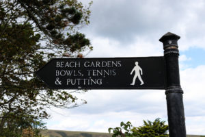 Signage for Beach Gardens in Swanage