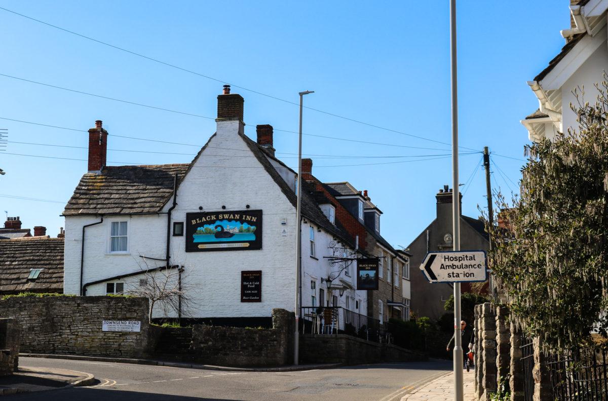 The Black Swan pub on High Street, Swanage