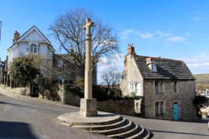 Memorial cross on Church Hill in Swanage