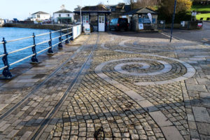Swanage Pier entrance and tramway