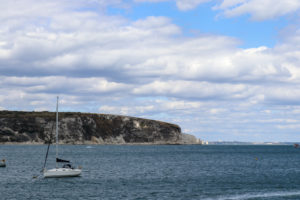 Ballard Down and Old Harry Rocks from Swanage Pier