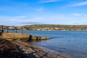 View across Swanage Bay from Monkey Beach