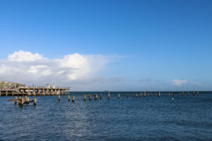 Swanage old pier from Buck Shore
