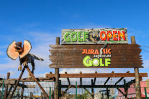 Jurassic golf Crazy golf course at Swanage Santa Fe fun park